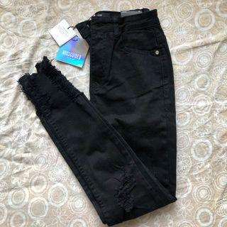 Missguided  black rip jeans