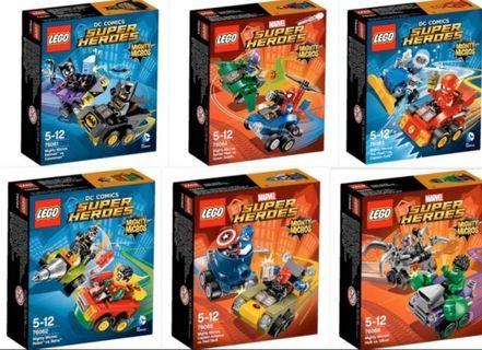 LEGO Mighty Micros Super Heroes 76061 76062 76063 76064 76065 76066 Marvel DC