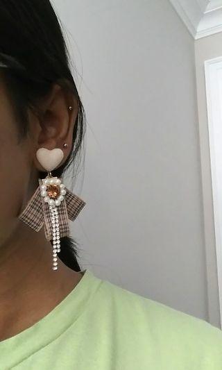 KOREAN rhinestone earrings