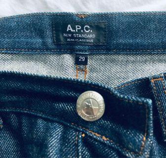 APC Indigo Denim Jeans. Size 29