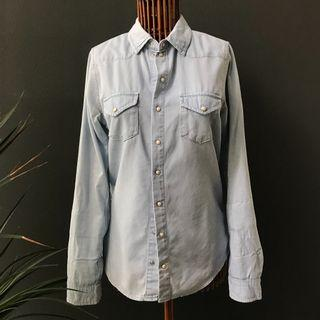 Topshop Light Denim Shirt