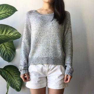 H&M Metallic Knit Slouchy Sweater