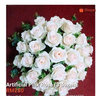 Artificial flower rose pink