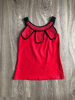 Red Girl Top / Atasan Anak Perempuan