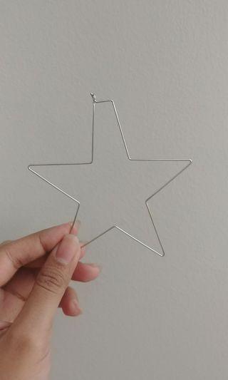ALDO silver star hoops