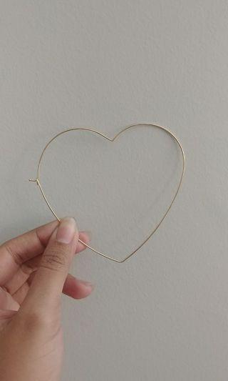ALDO gold heart hoops