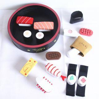 (Ready Stock)SN079 - Japanese Style Wooden Sushi Making Set - Cooking Role Play Educational Toy