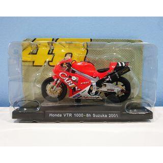 Leo 1:18 2001 Honda VTR Suzuka Rossi #11 MotoGP Diecast Motor Model
