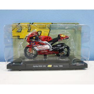 Leo 1:18 1999 Aprilia Imola Rossi #46 MotoGP Diecast Motor Model