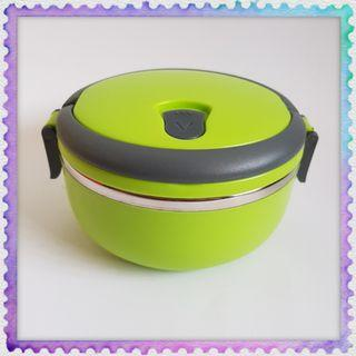 Green one layer Lunch Box high quality stainless steel ware with steam hole