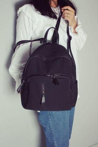 韓國質感麂皮後背包