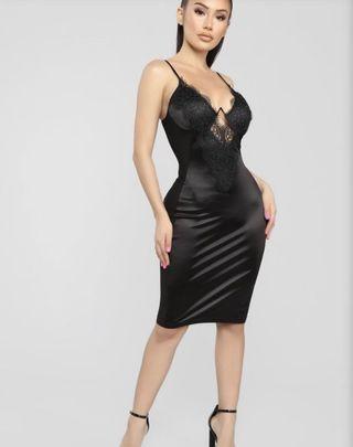 Fashionnova Lace Satin Dress