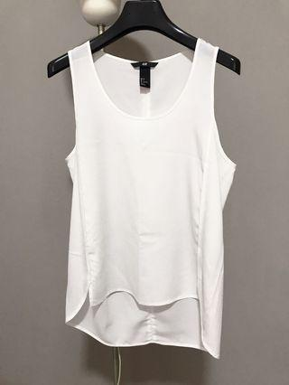 H&M Sleeveless White Top