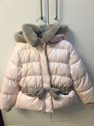 🈹清衣櫃‼️ 女童抓毛羽絨外套 kid's fleece down jacket 超暖 90% new