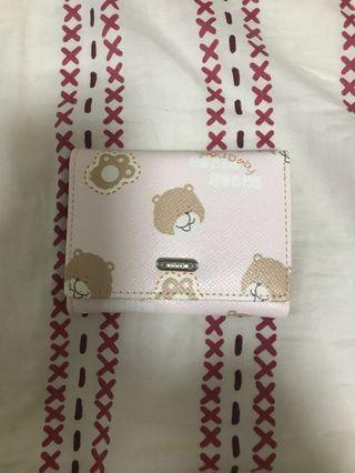 🚚 Brand New Miniso Wallet (Pink Background with Bear Design)