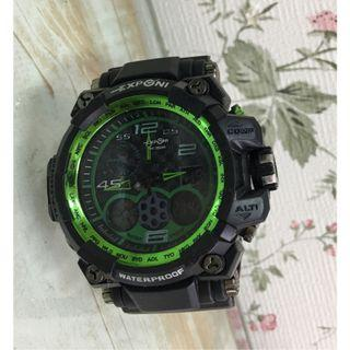 🚚 EXPONI 指南造型運動電子雙顯手錶