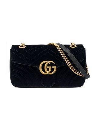 4673073509d AUTHENTIC Gucci Marmont Velvet (Black)