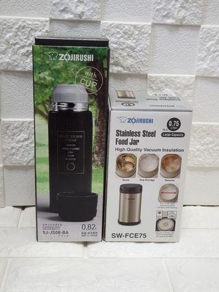 Best Bundle Deal for New Parents - Zojirushi  food jar (750ml) and 820ml Stainless Steel Vacuum Insulated Flask