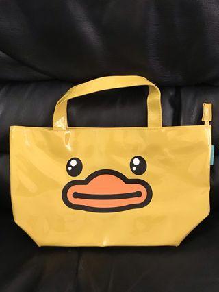 全新 b duck 黃色 鴨仔 手挽袋