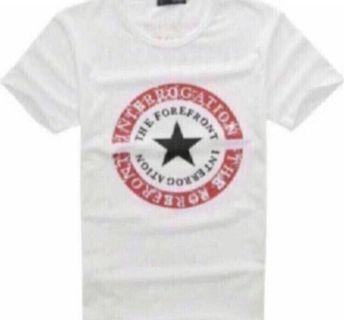 The forefront interrogation print Tshirt