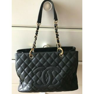 de78af0442df24 Authentic Chanel GST Caviar Grand Shopping Tote Black with Gold Hardware