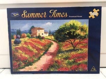 500 piece jigsaw puzzle (Summer Times flowers)