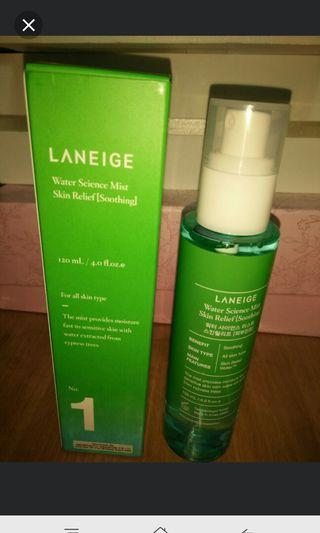 🚚 Laneige water science mist skin relief(soothing) 120ml