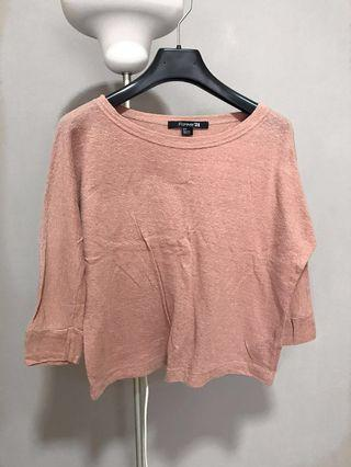 Forever 21 Dusty Pink Knitted Top