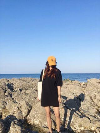 🚚 黑色長版polo洋裝
