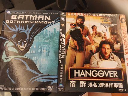 Movie DVD- Batman Gotham Knight and The Hangover