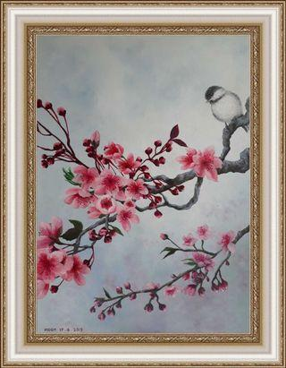 Cherry Blossom Oil Painting