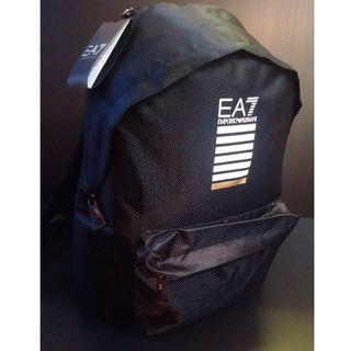 New Emporio Armani EA7 Men's Rucksack Backpack Laptop Tablet Train Core ID Black