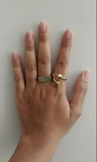 MIX gold and silver rings