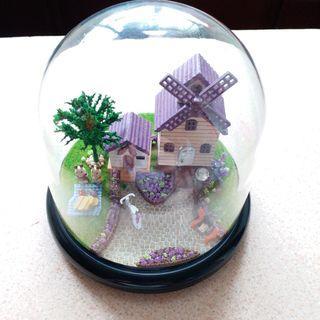 普羅旺斯 紫色小屋別墅模型