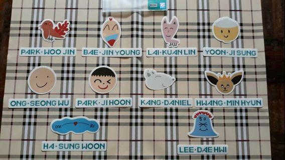 [WTS]Wanna One Official Luggage Stickers