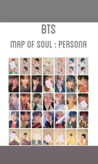 Early WTT BTS MAP OF THE SOUL PERSONA PHOTOCARD PC