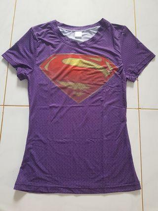 🚚 Purple Superman( Body Hugging T shirt)