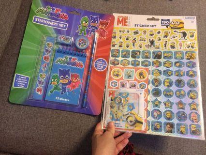 Stationery and Sticker set