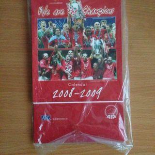2008-2009 AIG MANCHESTER UNITED CALENDAR 曼聯坐枱月曆