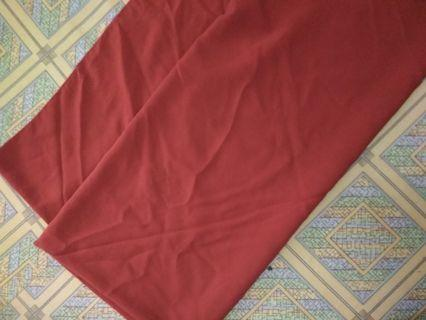 Jilbab persegi square syari 130cm merah bata 130 cm