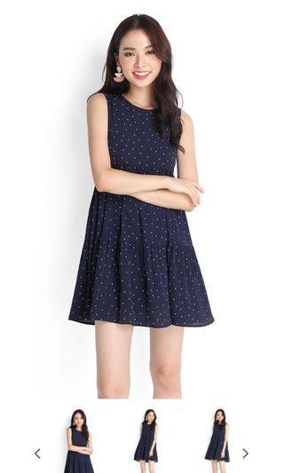🚚 Good Day Sunshine Dress In Blue Dots