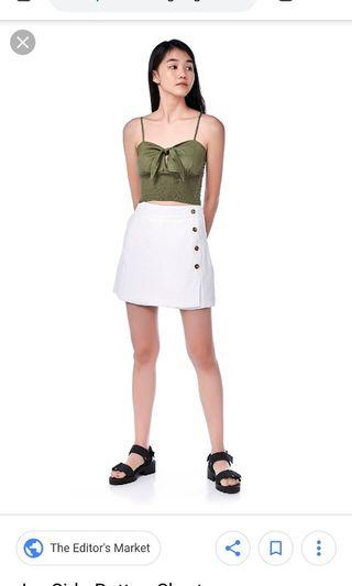 BNWT TEM white buttoned up skorts