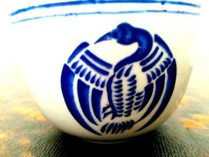(Each) Blue Crane kungfu teacup