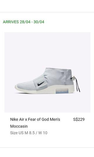 🚚 Us8.5 Nike Air x Fear of God Moccasin