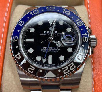 🚚 Rolex GMT Master II Batman 126710BLNR BNOS condition