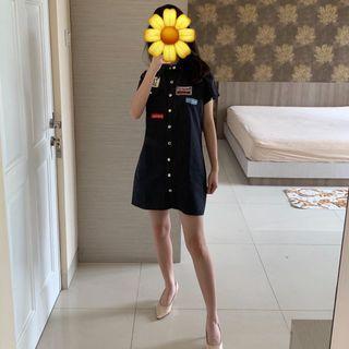 Dress / Outerwear Denim Hitam