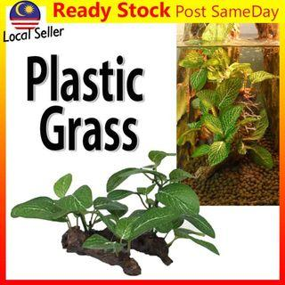 Artificial Fake Plastic Green Grass Plant Fish Tank Aquarium Garden