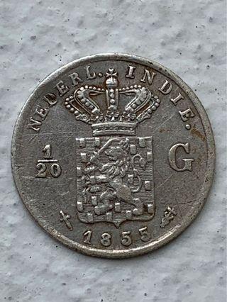 Netherlands East Indies 1855 1/20 gulden