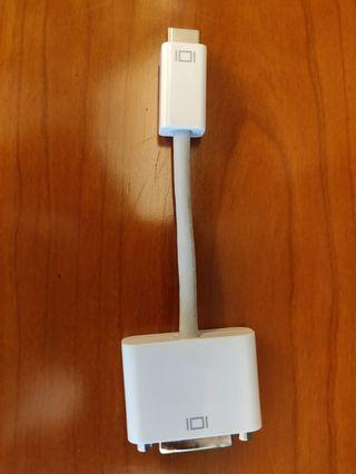 Apple DVI to mini DVI adapter