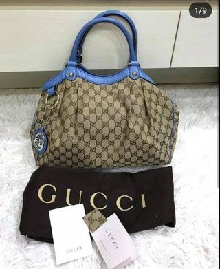 Authentic Gucci Sukey Medium Canvas Bag